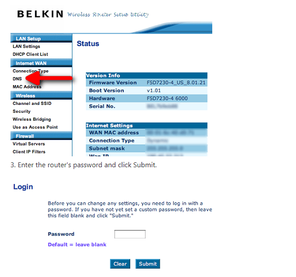 Belkin Default Wifi Password List