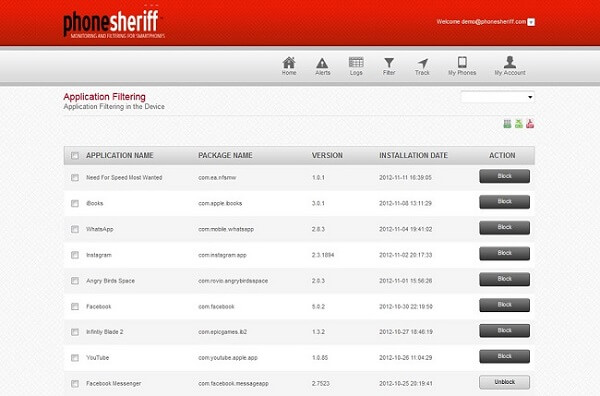 phonesheriff  monitoring