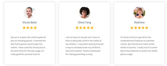 user reviews of famiguard