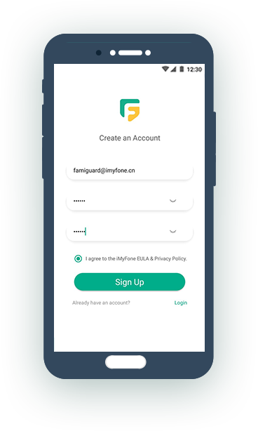 register for famiguard  account